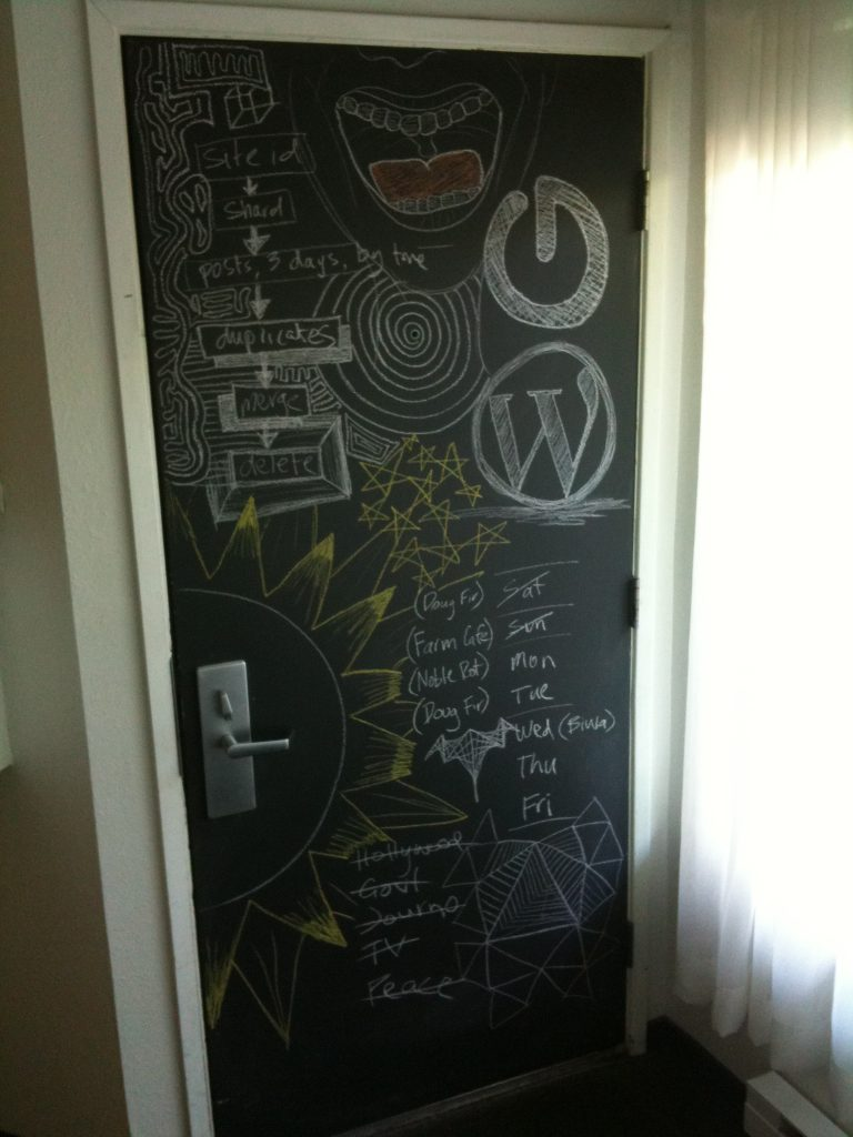 Chalk-board Door