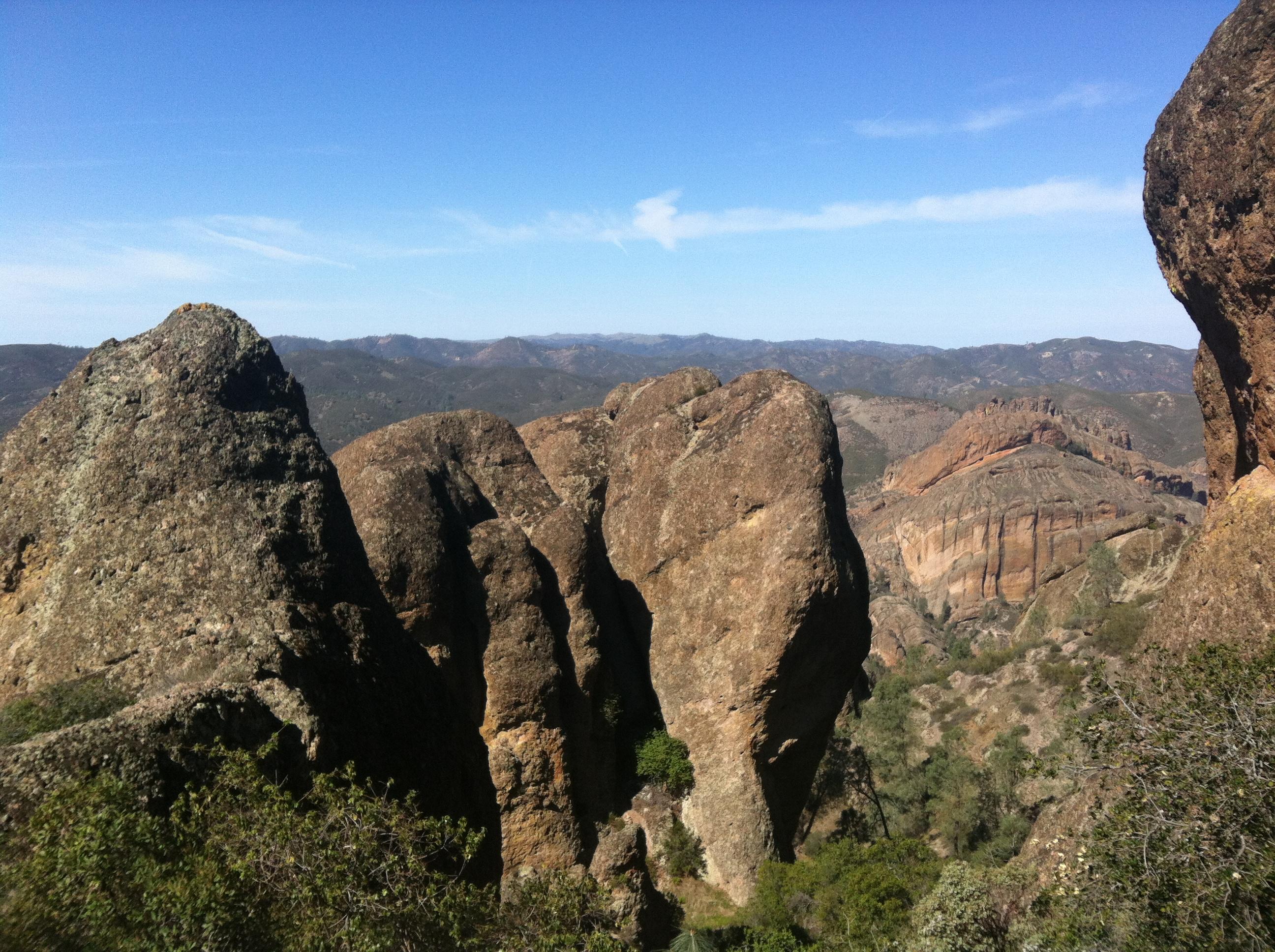 Hiking at The Pinnacles, CA