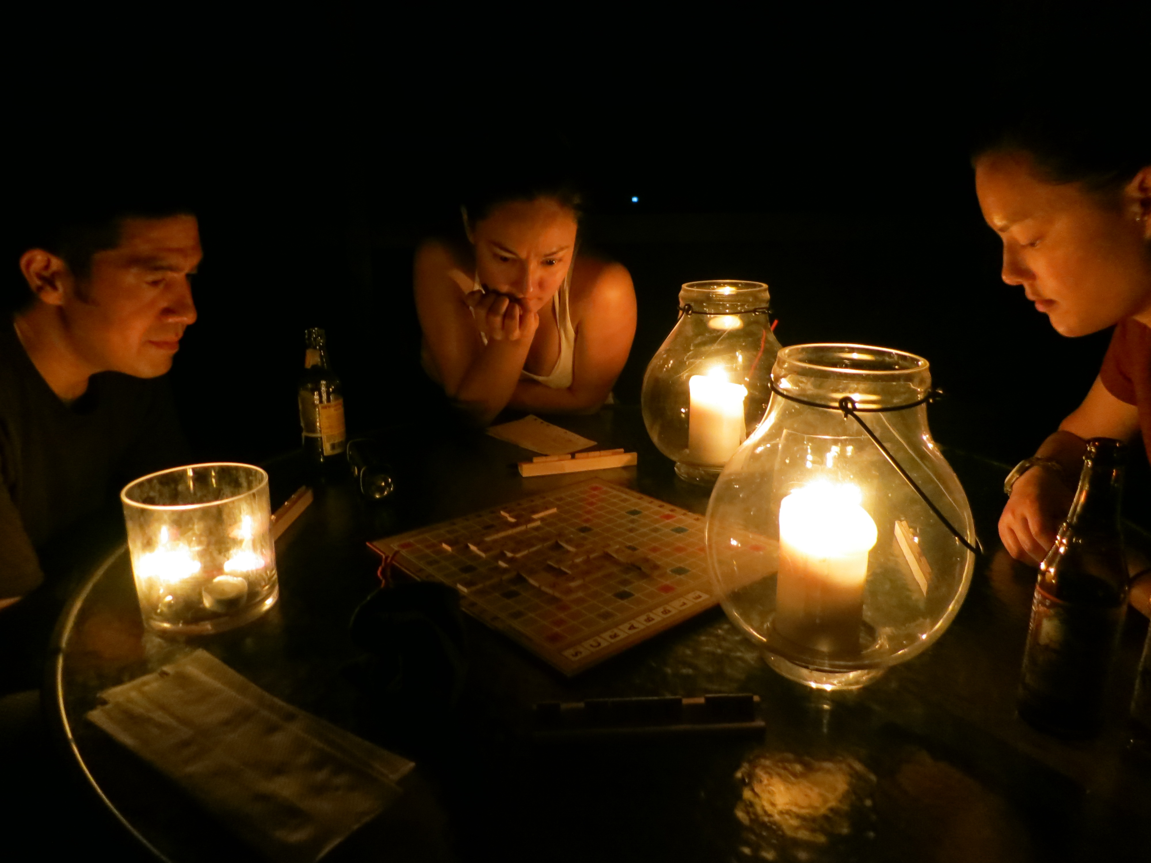 Scrabble by Candlelight
