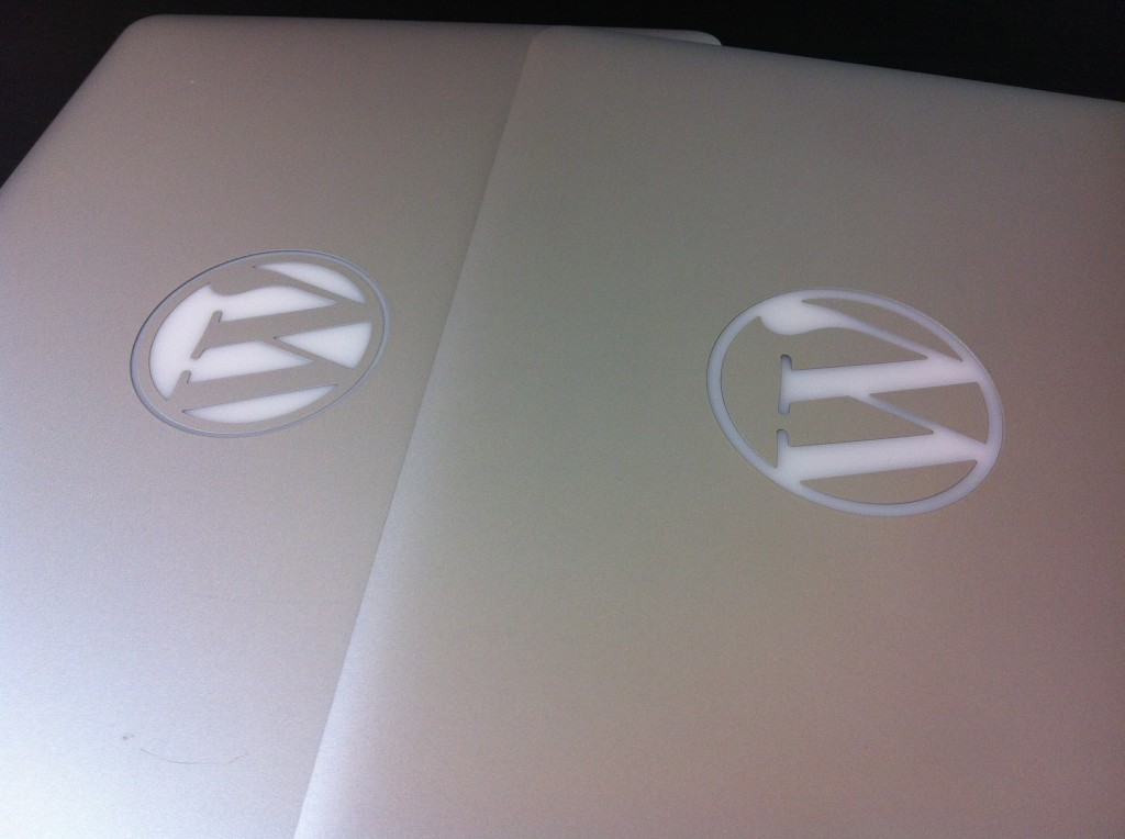 Inverted WordPress MacBook Pros