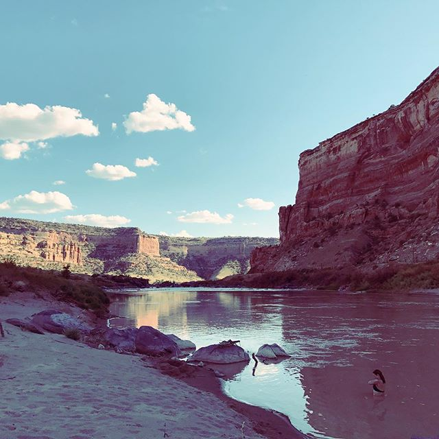 Day Two campsite. Incredible. #canoeing #canoecamping #colorado #utah #river #canyon