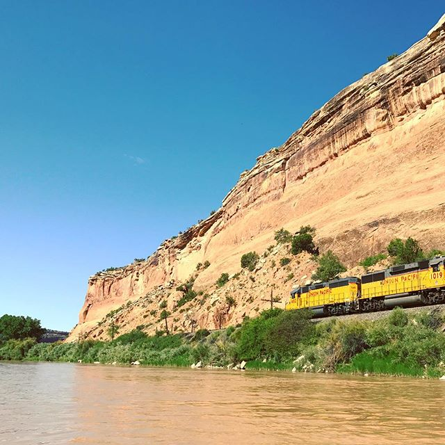Union Pacific. Toot, toot. #train #unionpacific #colorado #canoecamping #camping #river #utah
