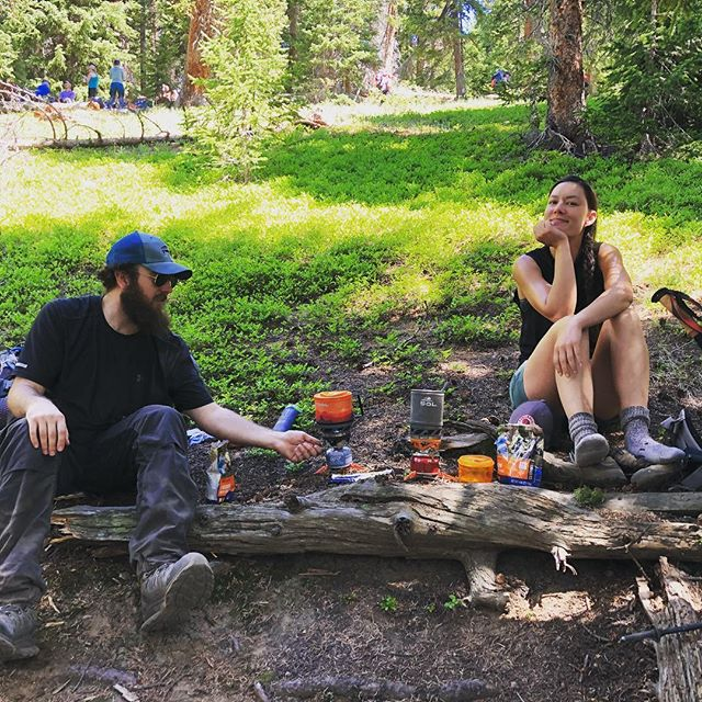 First lunch stop. Thanks @mtnhouse for the tasty meals (Lasagne in particular!) And @thegrayl for the excellent water filter. #fjallravenclassicusa