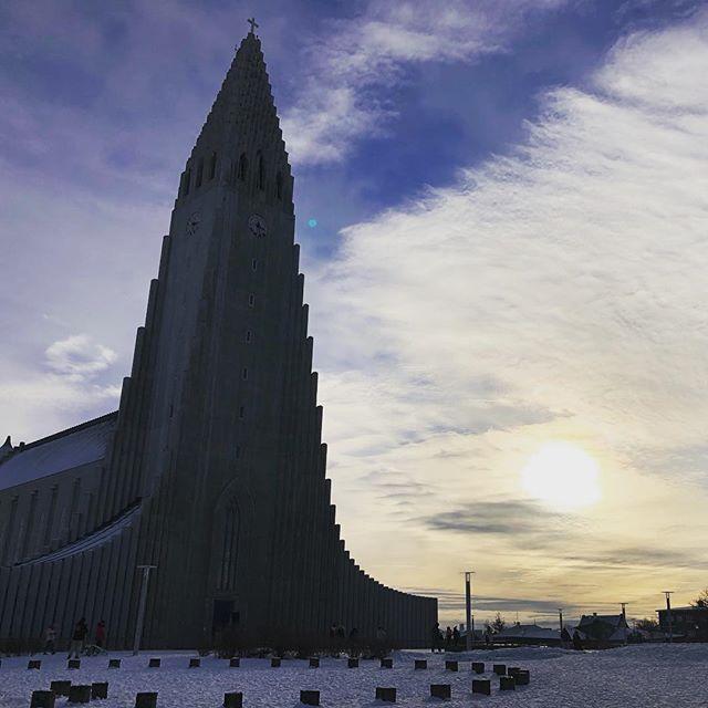 Church in Reykjavík. #iceland