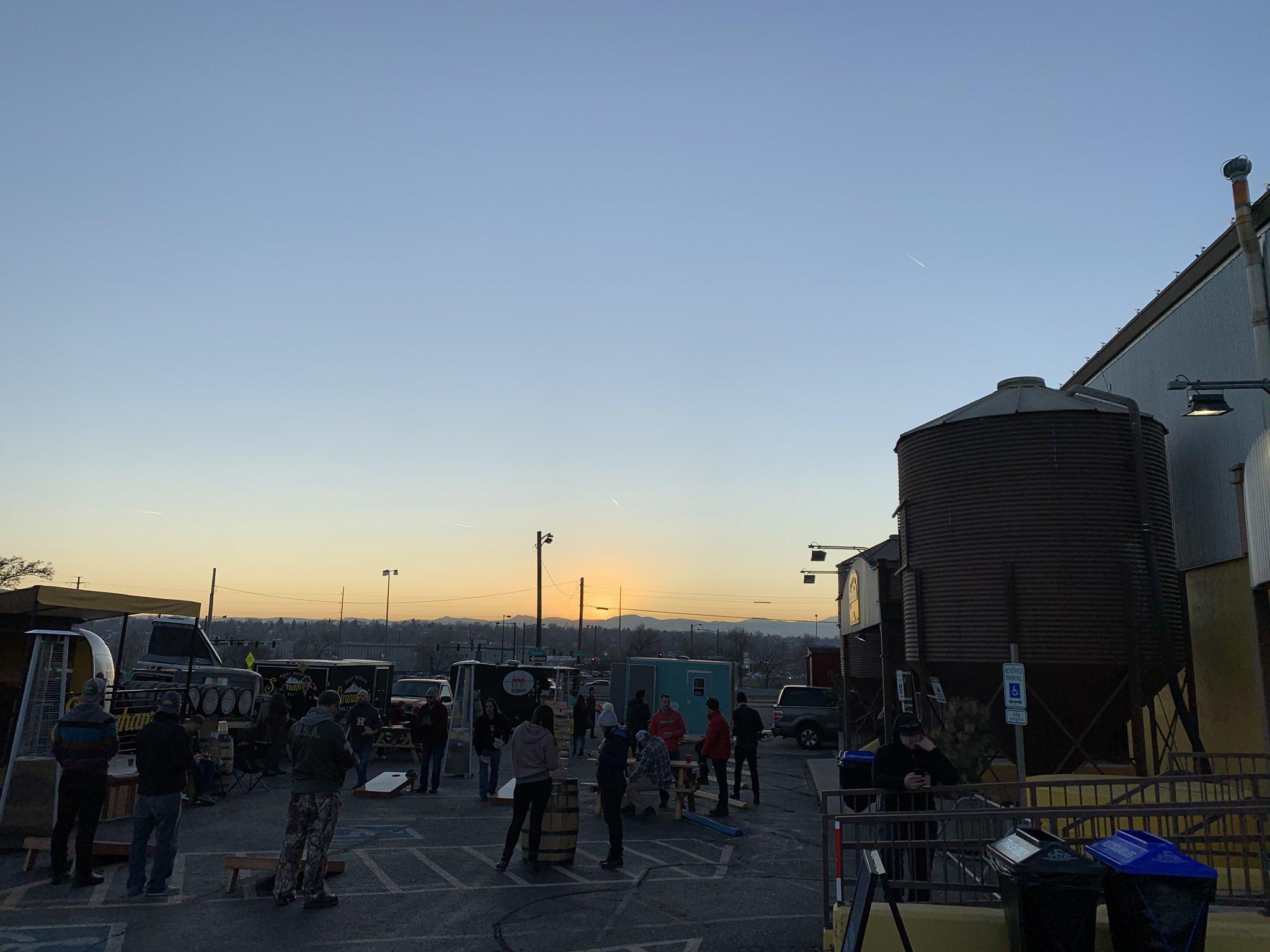 The sun sets over @Stranahans…