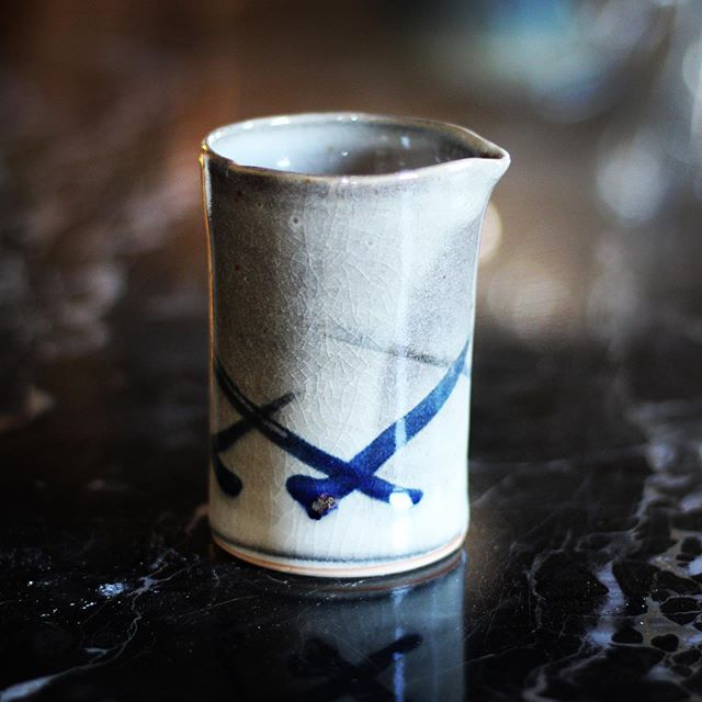 One of my favorite pieces from our class. Smaller than I'd like, but the glazing turned out waaaay better than I expected. Photo by @fluxstudiodenver. #ceramics #pottery #potterywheel #glazingpottery