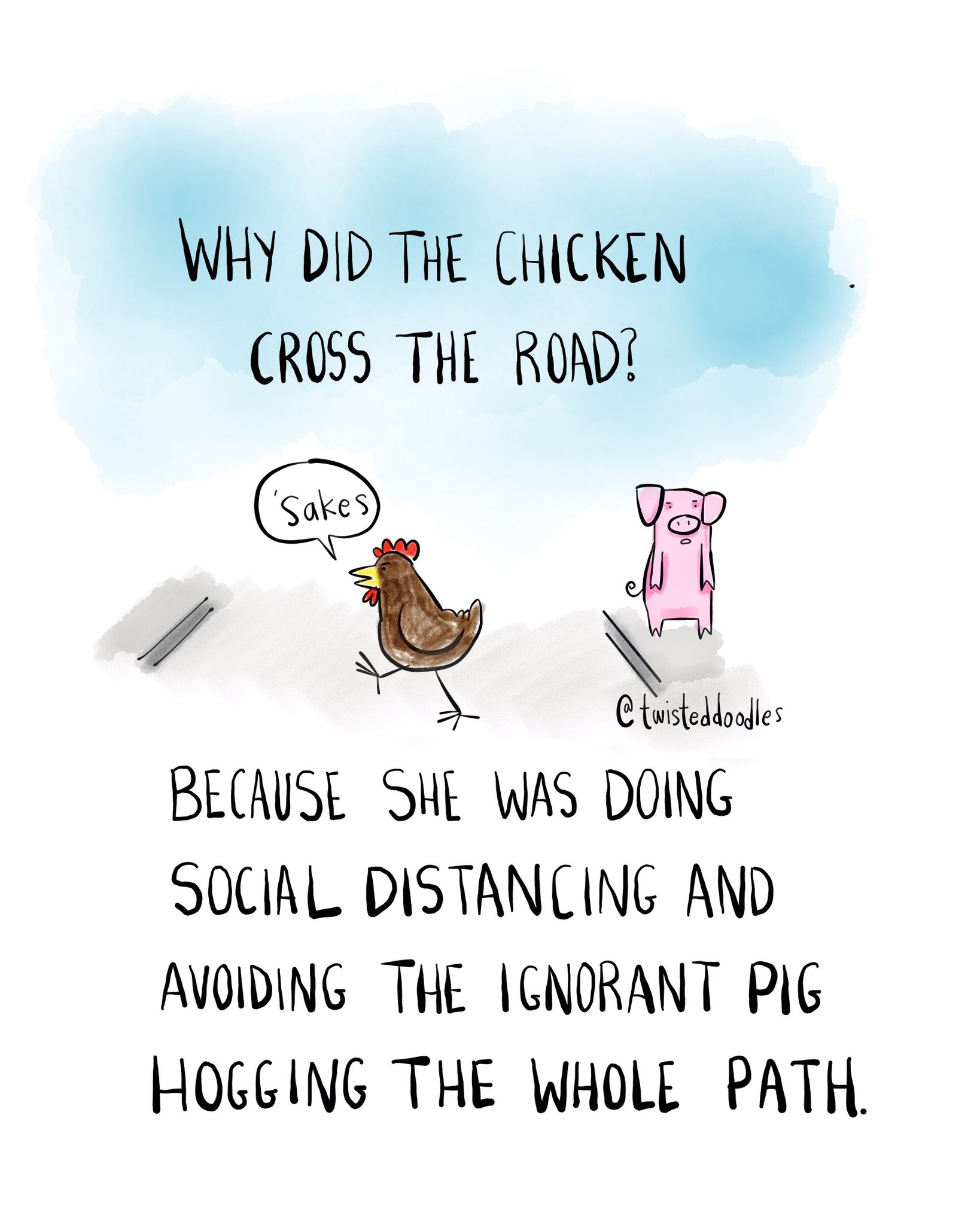 RT @twisteddoodles: Why did the…