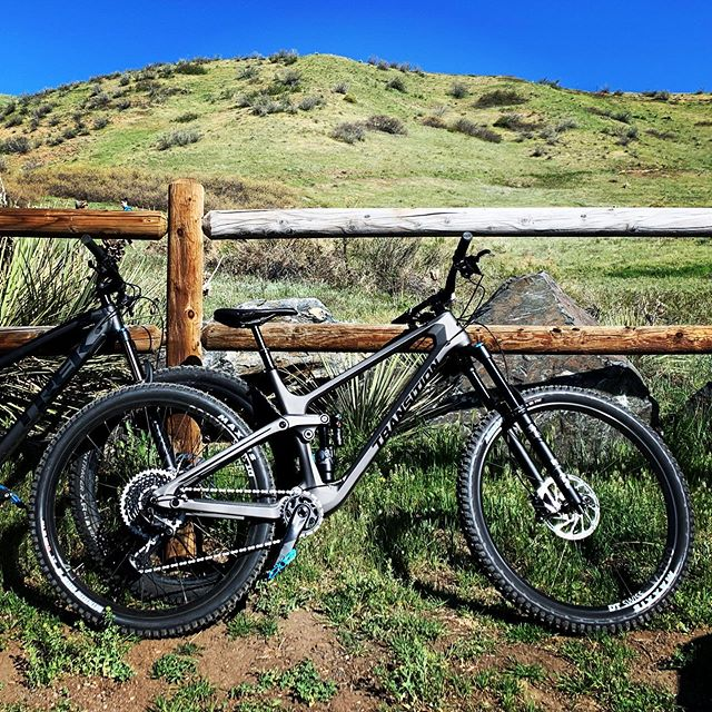 First ride on my brand new @transitionbikes #sentinel this morning and holy smokes does it roll. I love it! Can't wait to get out to some better trails.