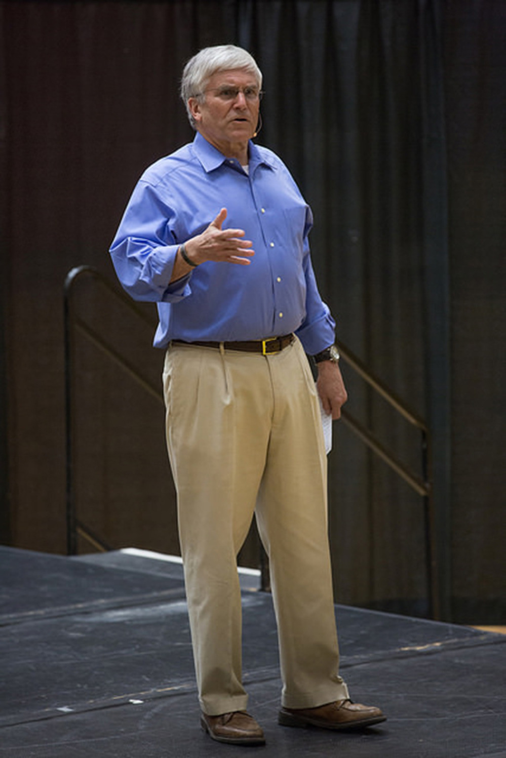 George W. Casey Jr. shared his keys to leadership with DU's Athletics Dept. on Tuesday, Mar. 31