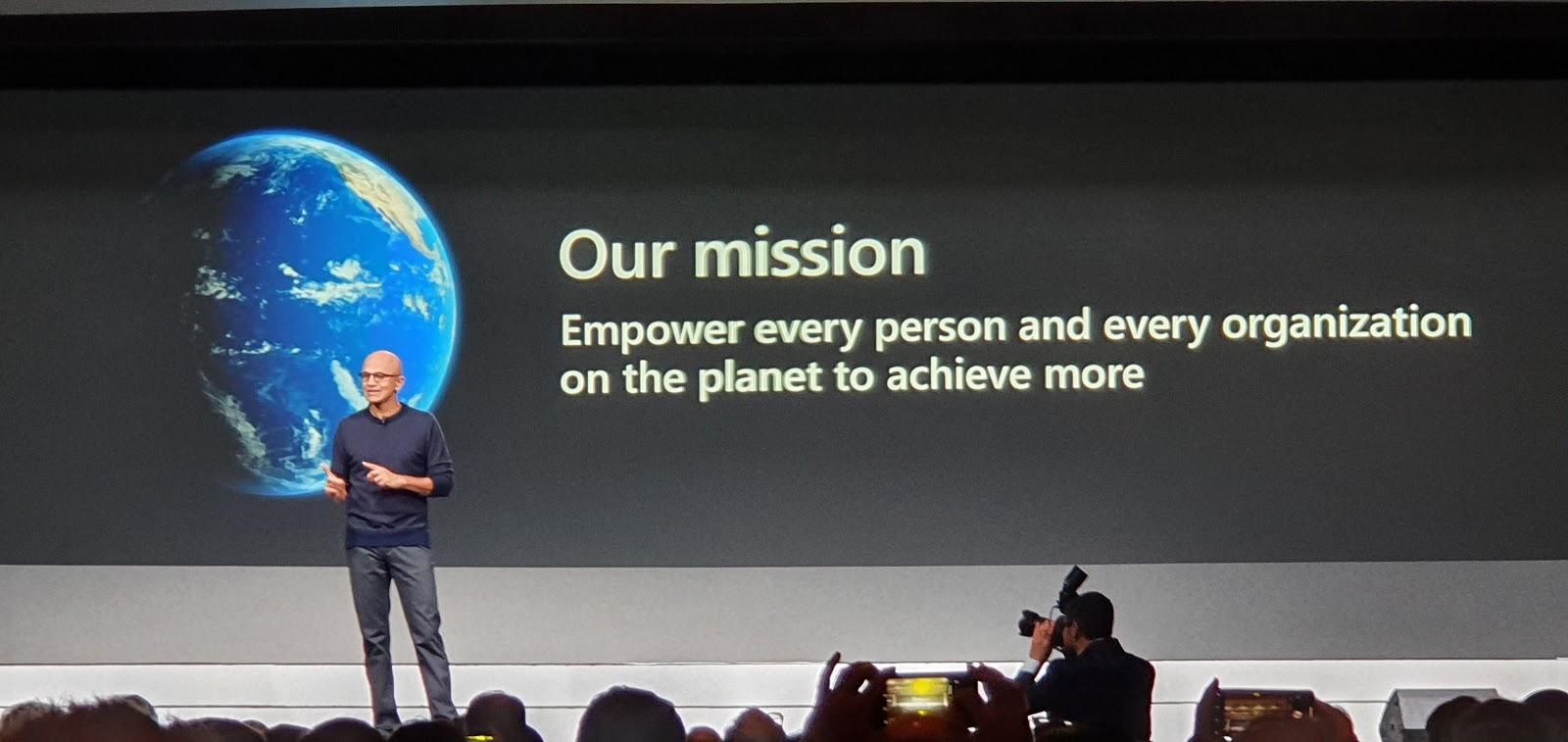 O CEO da Microsoft, Satya Nadella, foi um dos palestrantes da edição 2020 da NRF.