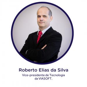 Foto de Roberto Elias da Silva, vice-presidente de Tecnologia da VIASOFT. A empresa faz parte do polo tecnológico do Paraná.