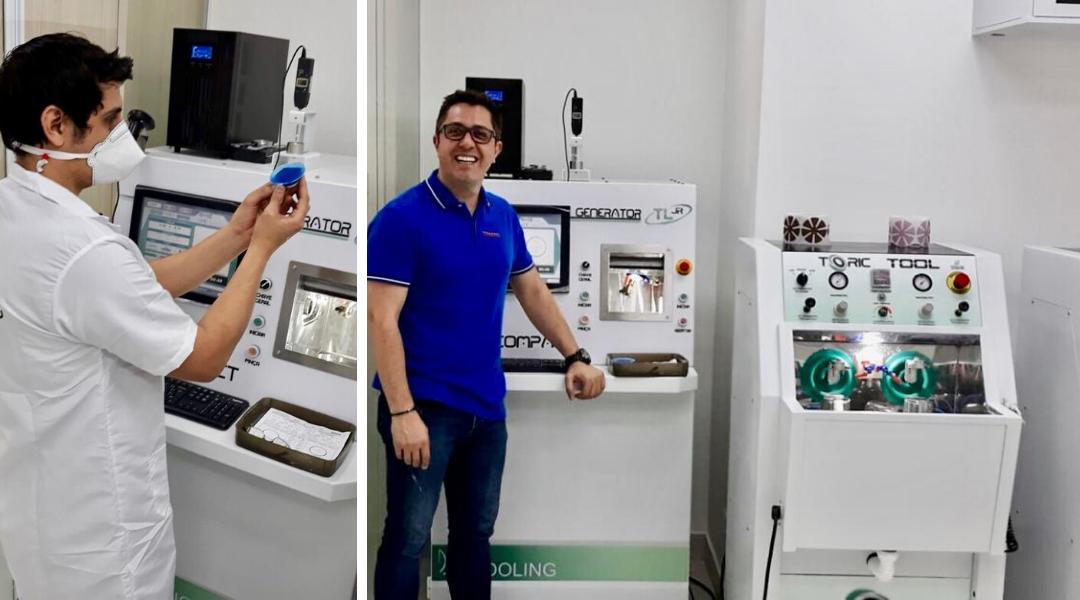 Novo laboratório das Óticas Moretti, em Foz do Iguaçu.