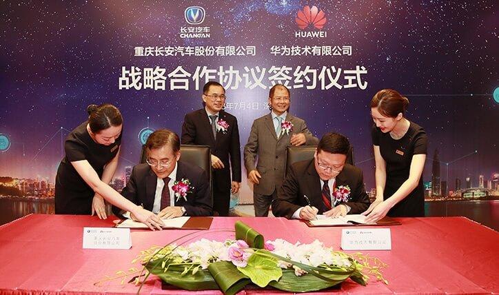 Changan y Huawei se unen para crear vehículos inteligentes