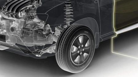 Renault Oroch, Suspensión Multilink Robustez, desempeño y estabilidad Con la nueva Pick Up Renault experimenta una conducción mejorada, precisa y segura, lo que en la práctica se traduce en más comodidad, menor nivel de ruido y mejor estabilidad.
