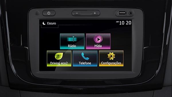"""Renault Symbol, Sistema multimedia Media Nav Evolution Simple e intuitivo, el sistema multimedia Media Nav Evolution* te permite explorar sus diferentes funciones mediante su pantalla táctil de 7"""" (18 cm): navegación, radio, conectores jack y USB, transmisión de audio y telefonía Bluetooth®. Esta característica también incluye controles en la columna de dirección y cuatro altavoces.  *Según la versión."""
