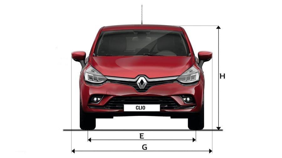 Dimensiones Renault CLIO, Largo