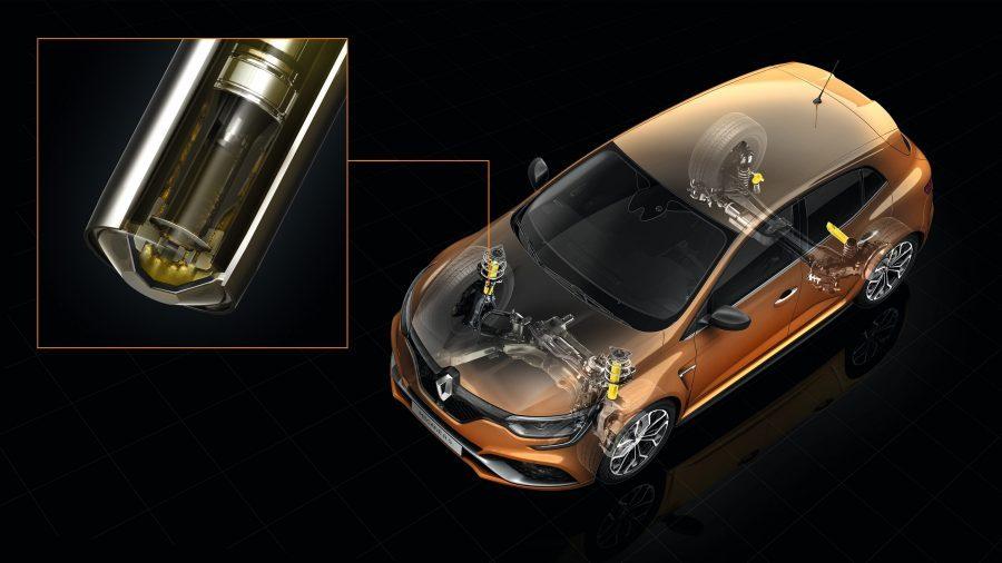 Renault MEGANE R.S., Paradas de compresión hidráulica