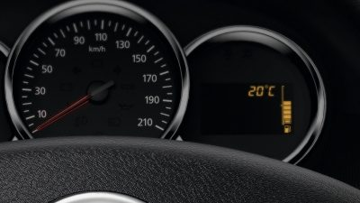 Renault SYMBOL, Indicador de temperatura exterior