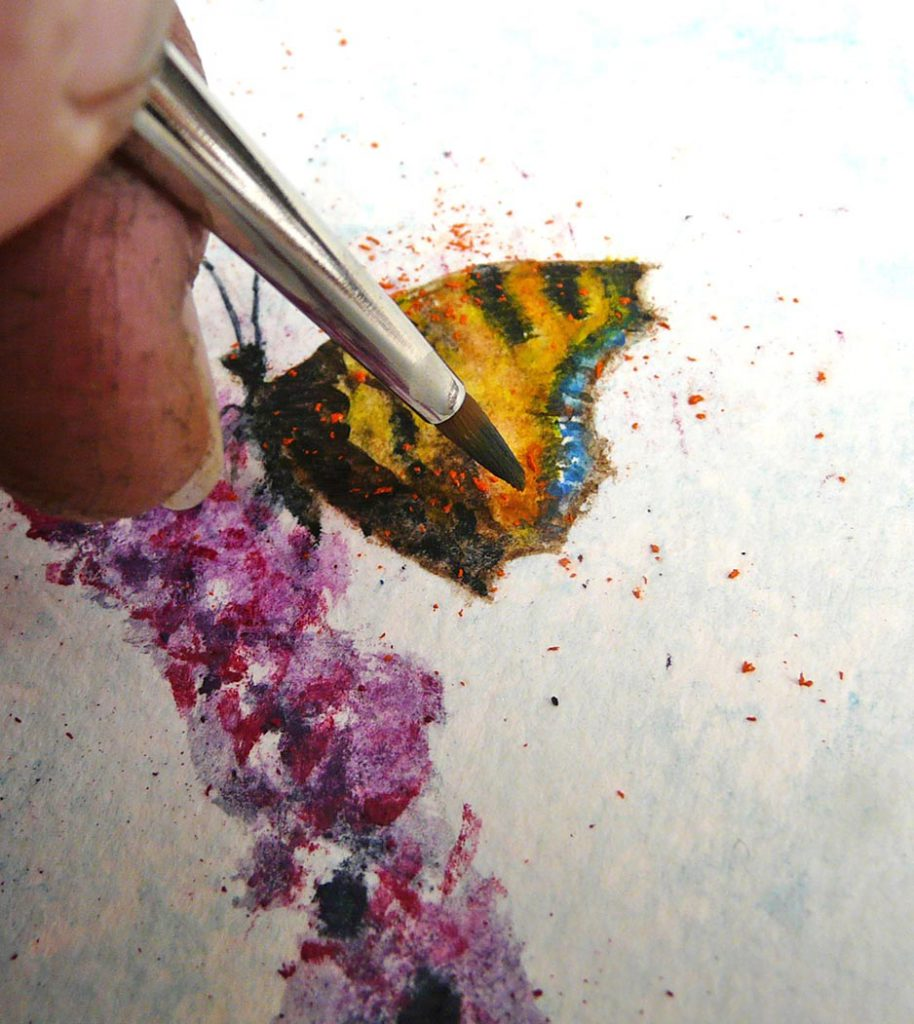 Creating a butterfly