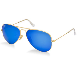 Aviator Gold Blue Mirror
