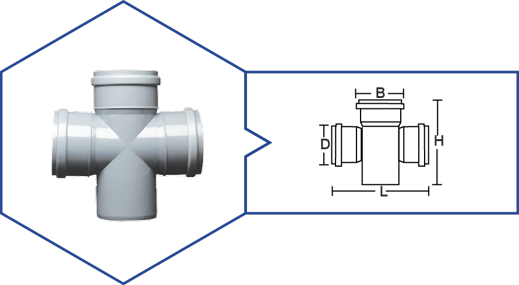 DOUBLE 'T' (4 WAYS),Kisan Plumbing System - The Design Bridge