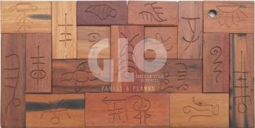 Antique Wood Mosaic,GloPanels Fibre Cement Board - The Design Bridge