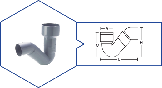 P' TRAP,Kisan Plumbing System - The Design Bridge