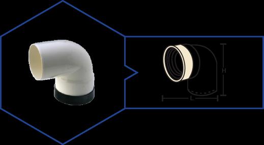 W. C. CONNECTOR (BENT),Kisan Plumbing System - The Design Bridge