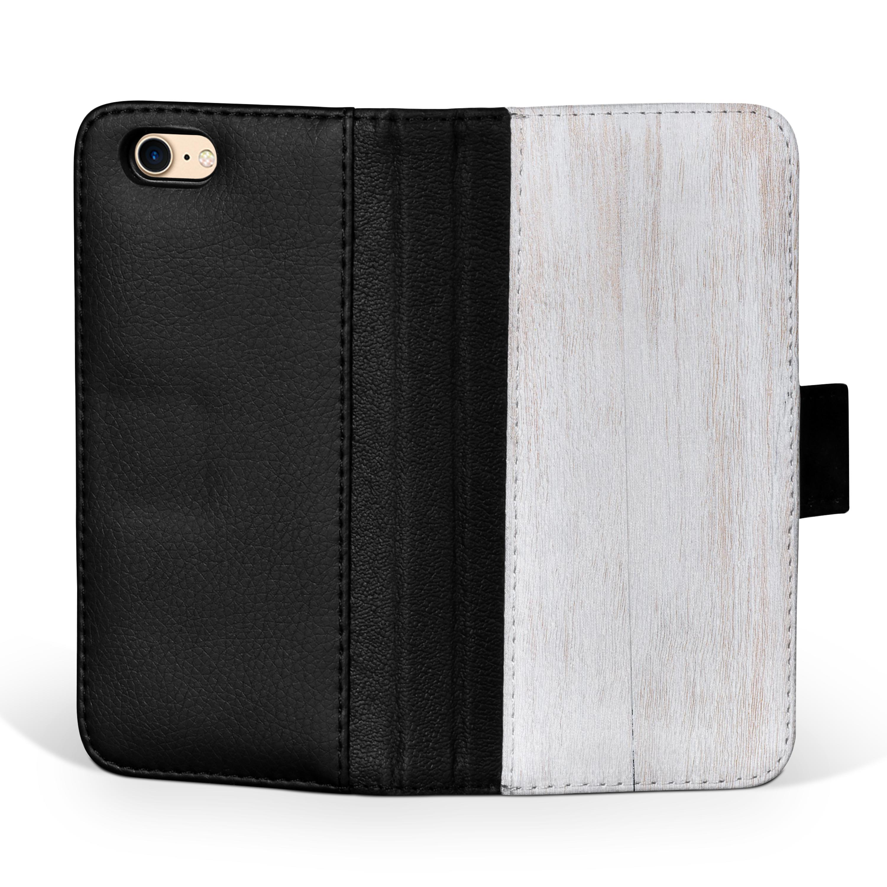 Light-White-Wood-Planks-iPhone-Leather-Credit-Card-Wallet-Case thumbnail 8