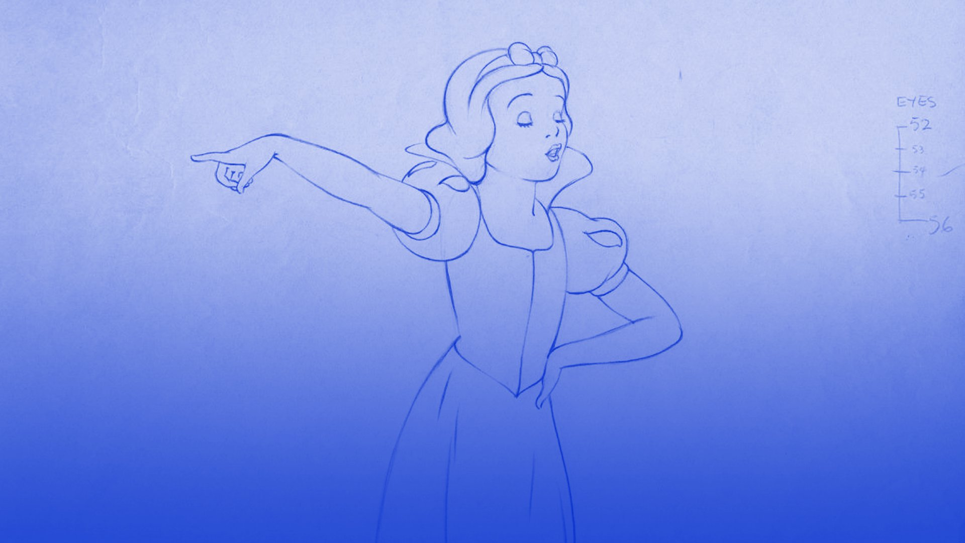 Snow White Pencil Test