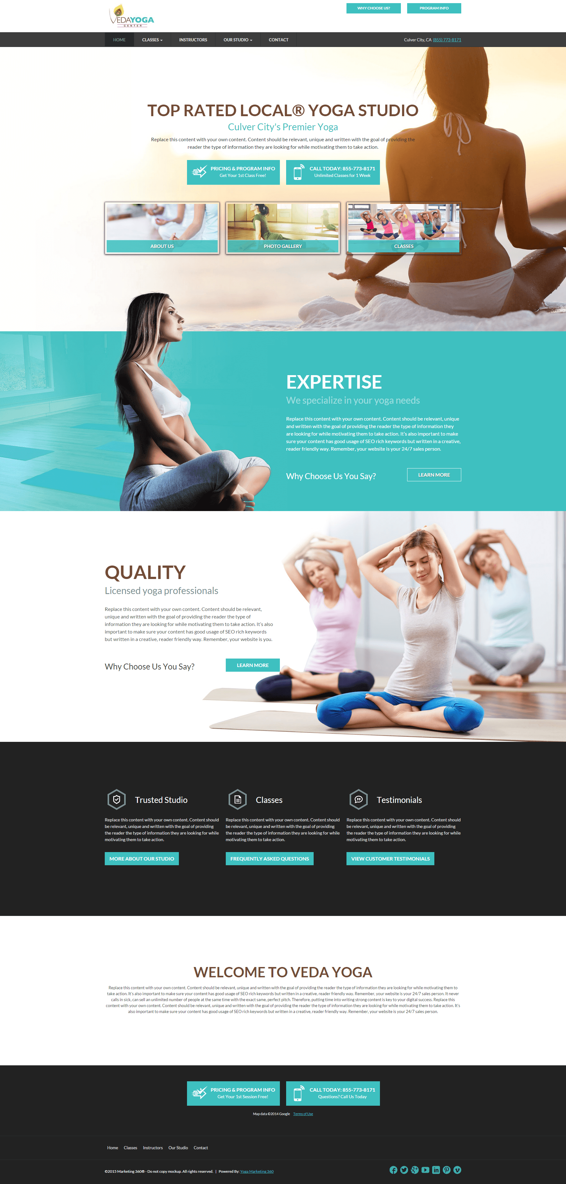 10 Best Yoga Studio Website Design Templates for 2019 ...