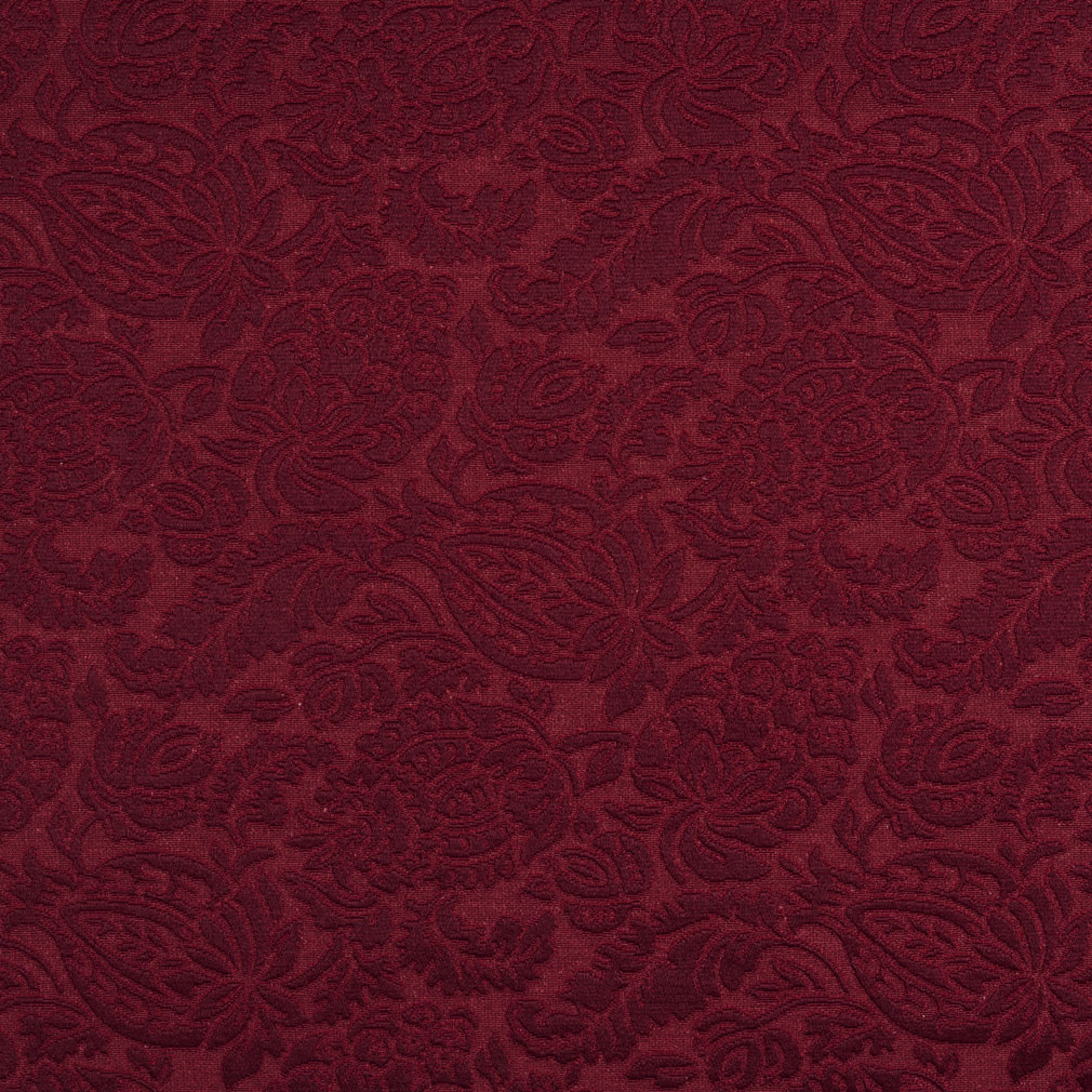 E554 Burgundy Floral Durable Jacquard Upholstery Grade Fabric By The Yard Ebay