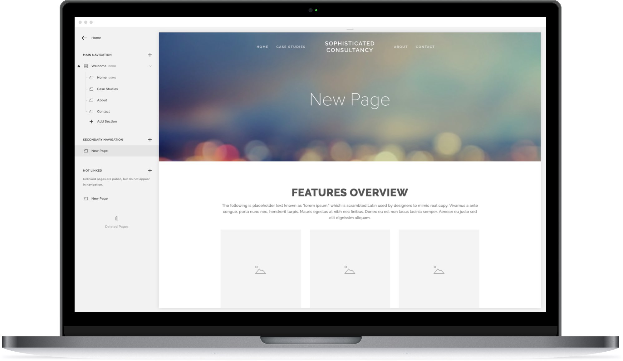 DesignLive designers help you pick a template for your Squarespace site