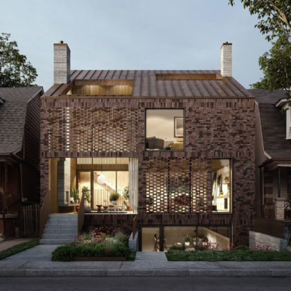 Front elevation of the Triple Duplex by Batay-Csorba Architects