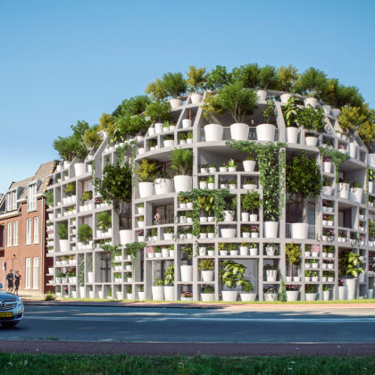 "MVRDV's ""Green Villa"" Is a Corner Residential Building Covered in Plants"
