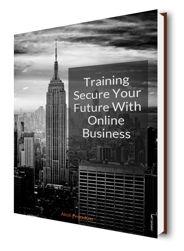 A dark eBook cover with skyscrapers in the background bearing the inscription Training