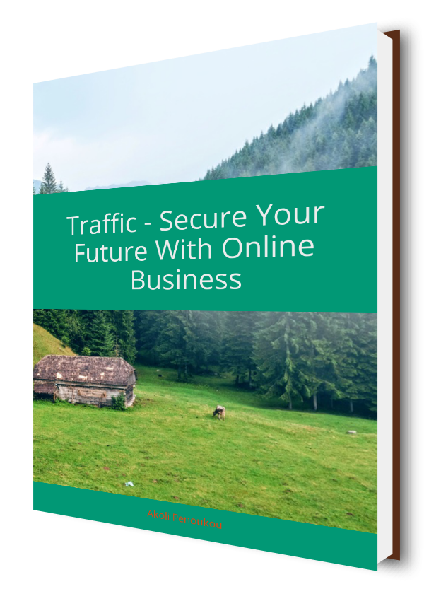 A green mountainous eBook cover bearing the inscription Traffic