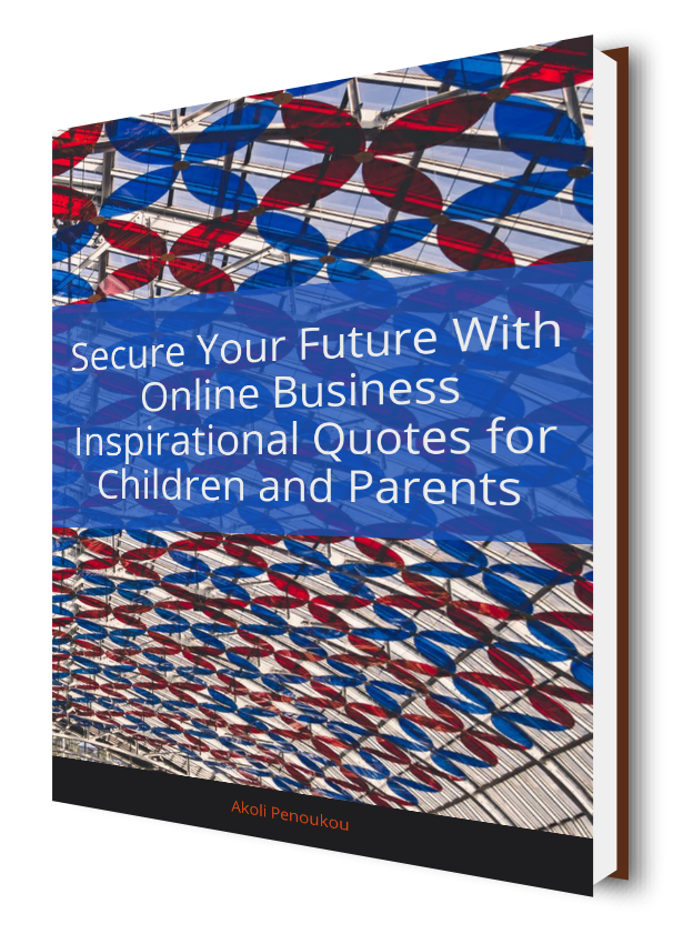 A bright eBook cover with a blue middle bearing the inscription Online business and a kaleidoscopic top and bottom