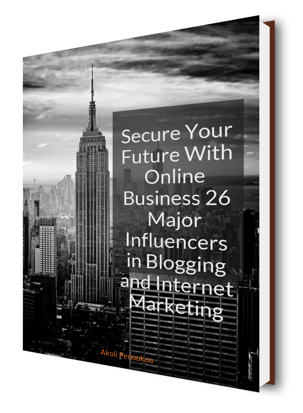 A dark eBook cover showing skyscrapers in the background with the inscription Major influencers in blogging
