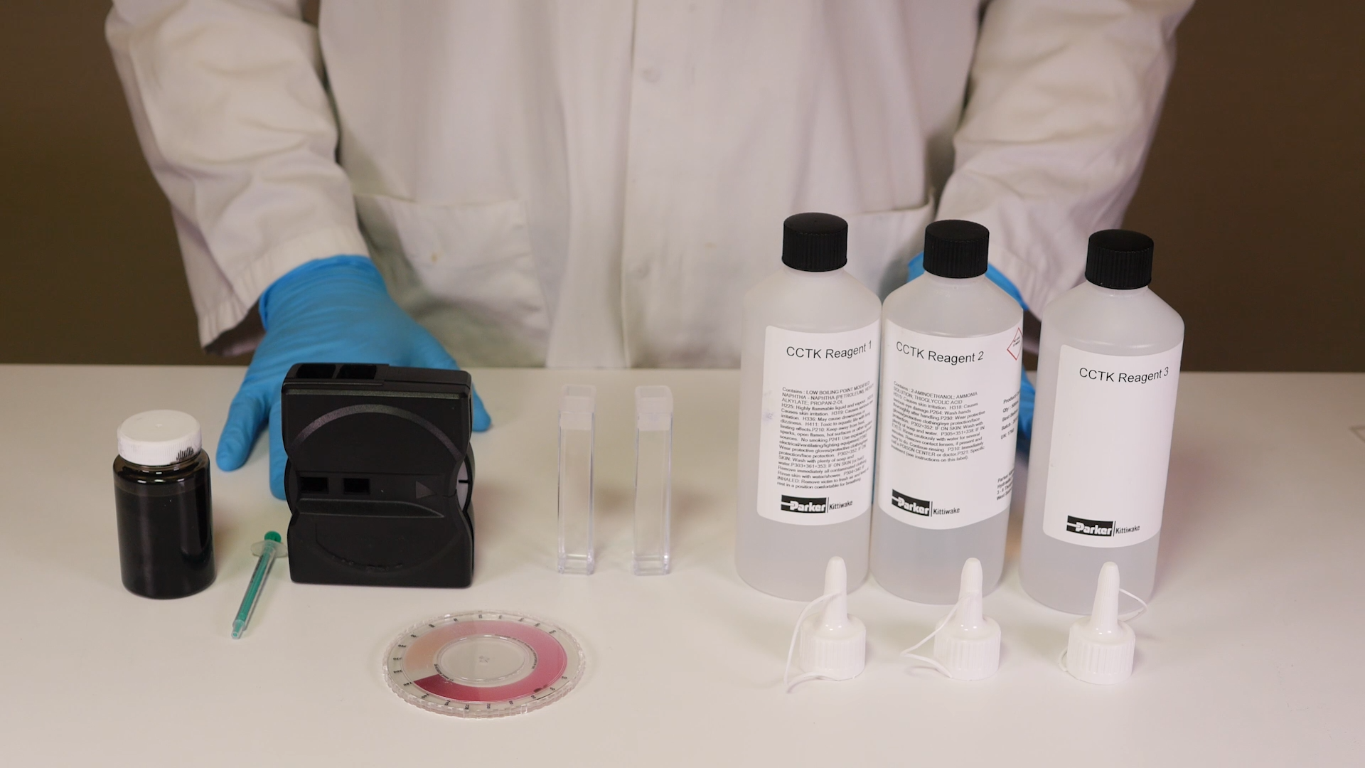 How to Perform a Cold Corrosion Test - contents of kit - Parker Kittiwake