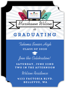 Modern Smarty Graduation Invitation