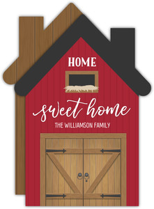 Cute Rustic Barn House Moving Announcement