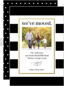 Classic Stripes Photo Moving Announcement