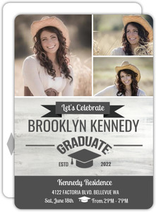 Rustic Wood Sign Graduation Postcard Invitation
