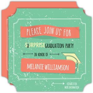 Bright Rustic Graduation Party Invitation