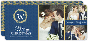 Berry Wreath Christmas Photo Card