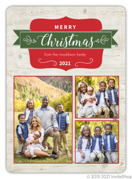 Classic Christmas Photo Card Christmas Cards