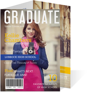 Special Edition Magazine Cover Graduation Invitation