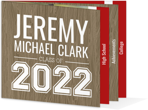 Wood Grain Pattern Graduation Announcement