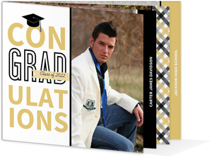 Unique Black Gold Graduation Booklet Invitation